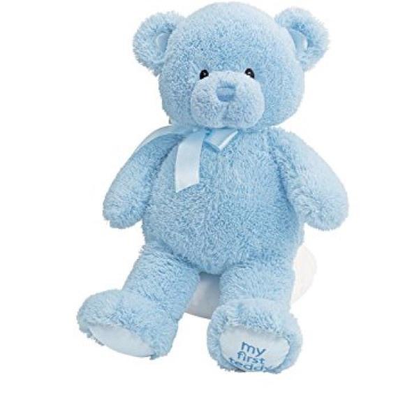 Baby Gund Other Blue Gund Soft First Teddy Bear Baby Boy Plush Toy